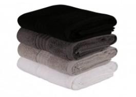 Set 4 prosoape bumbac 100%,Hobby Home, 50x90 cm, Rainbow Black