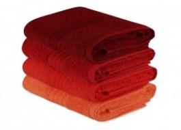 Set 4 prosoape bumbac 100%,Hobby Home, 50x90 cm, Rainbow - Rosu