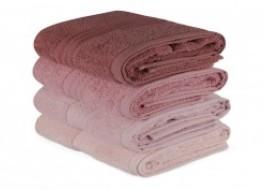 Set 4 prosoape bumbac 100%,Hobby Home, 50x90 cm, Rainbow - Roz Pudra
