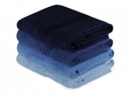 Set 4 prosoape bumbac 100%,Hobby Home, 70x140 cm, Rainbow - Blue