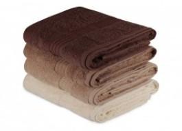 Set 4 prosoape bumbac 100%,Hobby Home, 70x140 cm, Rainbow - Brown
