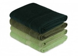Set 4 prosoape bumbac 100%,Hobby Home, 70x140 cm, Rainbow - Green