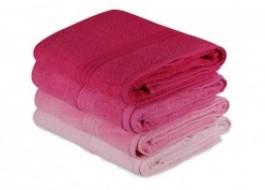 Set 4 prosoape bumbac 100%,Hobby Home, 70x140 cm, Rainbow - Pink