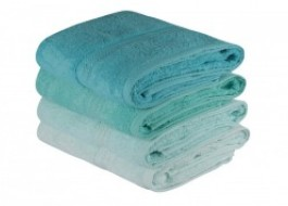 Set 4 prosoape bumbac 100%,Hobby Home, 70x140 cm, Rainbow - Water Green