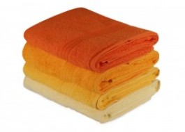 Set 4 prosoape bumbac 100%,Hobby Home, 70x140 cm, Rainbow - Yellow