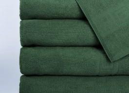 Set 5 prosoape 50x90cm, bumbac 100% cu bordura greceasca, Verde