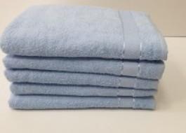 Set 5 prosoape baie bumbac 100% 70x140cm, bleu v2