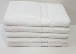 Set 5 prosoape fata bumbac 100% 50x90cm, alb