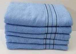 Set 5 prosoape fata bumbac 100% 50x90cm, bleu