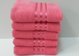 Set 5 prosoape fata bumbac 100% 50x90cm, roz 2