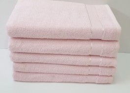 Set 5 prosoape fata bumbac 100% 50x90cm, roz pudra