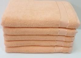 Set 5 prosoape fata bumbac 100% 50x90cm, salmon