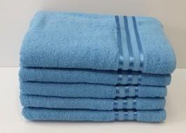 Set 5 prosoape baie bumbac 100% 70x140cm, albastru