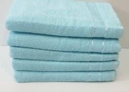 Set 5 prosoape baie bumbac 100% 70x140cm, bleu deschis