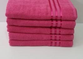 Set 5 prosoape baie bumbac 100% 70x140cm, roz