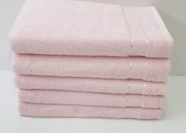 Set 5 prosoape baie bumbac 100% 70x140cm, roz pudra