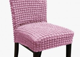 Set 6 huse scaun din material creponat, Lila