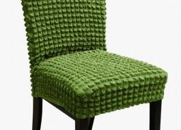 Set 6 huse scaun din material creponat, Verde