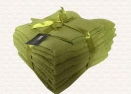 Set 6 prosoape bumbac 100%,Miomare, Verde