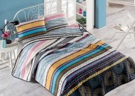 Set cuvertura matlasata + 1 fata perna, Eponj Home, Efried Multicolor