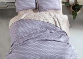 Set cuvertura matlasata + 2 fete perna bumbac 100%, Oregon V1