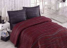 Set cuvertura matlasata 200x220cm+ 2 fete perna 50x70cm Verda - Claret Red