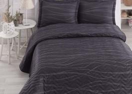 Set cuvertura matlasata 200x220cm+ 2 fete perna 50x70cm Verda - Grey