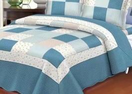 Set cuvertura pat+2 fete perna, Ralex Pucioasa, Stelute albastre