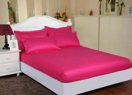 Set husa de pat din damasc+ 2 fete de perna pentru saltea de 140x200cm DHUS14