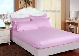 Set husa de pat din damasc+ 2 fete de perna pentru saltea de 140x200cm DHUS16