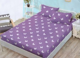 Set husa de pat din finet + 2 fete de perna pentru saltea de 140x200cm HPF115