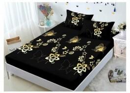 Set husa de pat din finet + 2 fete de perna pentru saltea de 140x200cm HPF117