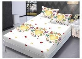 Set husa de pat din finet + 2 fete de perna pentru saltea de 140x200cm HPF143