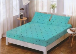 Set husa de pat din finet + 2 fete de perna pentru saltea de 140x200cm HPF147