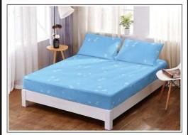 Set husa de pat din finet + 2 fete de perna pentru saltea de 140x200cm HPF158