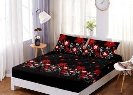 Set husa de pat din finet + 2 fete de perna pentru saltea de 140x200cm HPF203