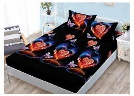 Set husa de pat din finet + 2 fete de perna pentru saltea de 140x200cm HPF305