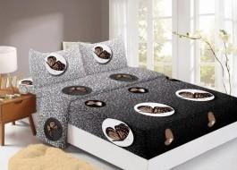 Set husa de pat din finet + 2 fete de perna pentru saltea de 140x200cm HPF310