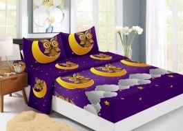 Set husa de pat din finet + 2 fete de perna pentru saltea de 140x200cm HPF314