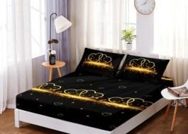 Set husa de pat din finet + 2 fete de perna pentru saltea de 140x200cm HPF4