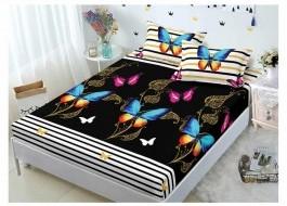 Set husa de pat din finet + 2 fete de perna pentru saltea de 140x200cm HPF42