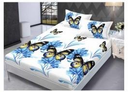 Set husa de pat din finet + 2 fete de perna pentru saltea de 140x200cm HPF51