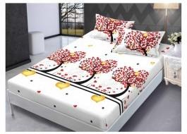 Set husa de pat din finet + 2 fete de perna pentru saltea de 140x200cm HPF63