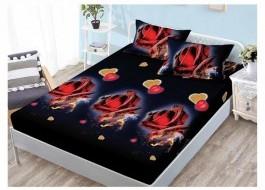 Set husa de pat din finet + 2 fete de perna pentru saltea de 140x200cm HPF69