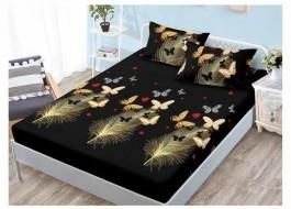 Set husa de pat din finet + 2 fete de perna pentru saltea de 140x200cm HPF7