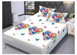 Set husa de pat din finet + 2 fete de perna pentru saltea de 140x200cm HPF88