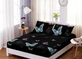 Set husa de pat din finet + 2 fete de perna pentru saltea de 160x200cm HPF2