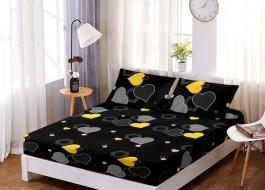 Set husa de pat din finet + 2 fete de perna pentru saltea de 160x200cm HPF101