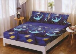 Set husa de pat din finet + 2 fete de perna pentru saltea de 160x200cm HPF115