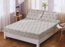 Set husa de pat din finet + 2 fete de perna pentru saltea de 160x200cm HPF116